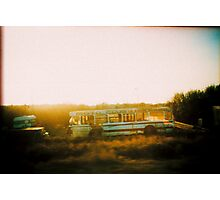 Bus over the road. Photographic Print