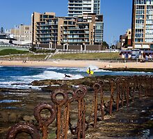 Newcastle Beach (Colour) by Daniel Rankmore