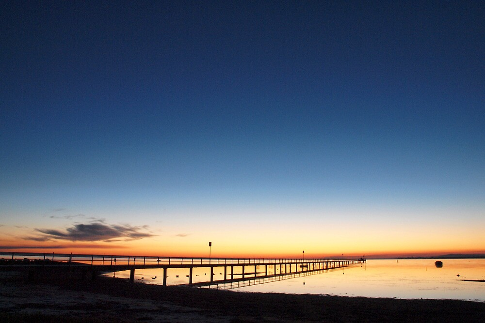 Swan Bay Jetty at Dawn by John Sharp