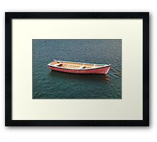 A Tender waiting for its next passenger Framed Print