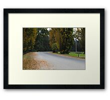 Rest Stop - Border Security - Genoa, New South Wales Framed Print