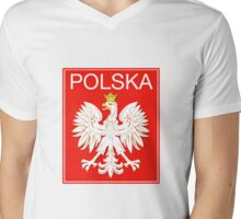 Polska Poland Polonia Mens V-Neck T-Shirt