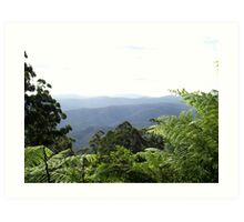 Dandenongs from Mount Donna Buang Art Print