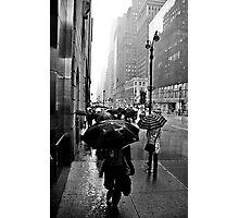 Rainy 42nd St. Photographic Print