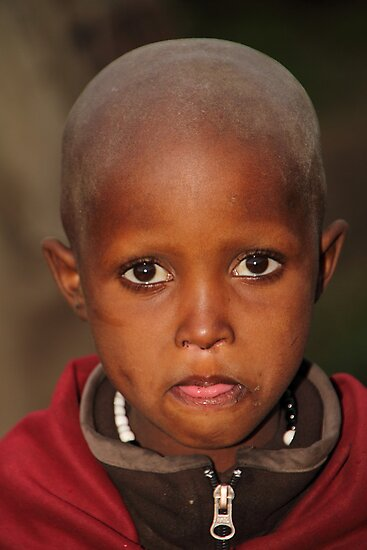 Maasai Child by Carole-Anne