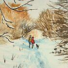 Snowy Day in Pelsall by Lynne  Kirby