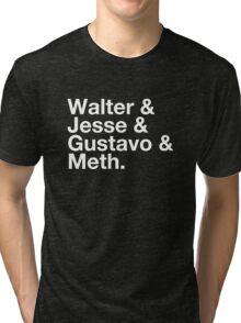 Walter & Jesse & Gustavo & Meth Tri-blend T-Shirt