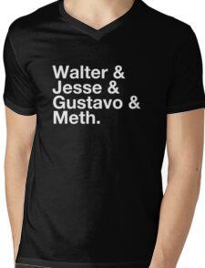 Walter & Jesse & Gustavo & Meth Mens V-Neck T-Shirt
