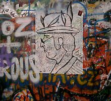 John Lennon Portrait, John Lennon Wall, Prague by ChrisCiolli