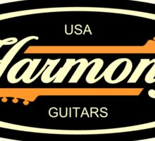 Old Harmony Guitars Oval Sticker