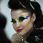 woman with bright makeup by mrivserg