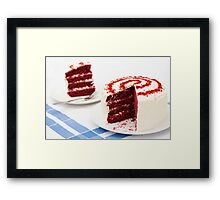 A Big Red Cake Framed Print