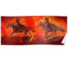 Black Riders Tolkien inspired art Poster