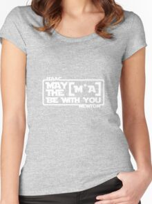 Jedi Newton uses the Force Women's Fitted Scoop T-Shirt
