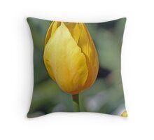 Golden Daffodil Throw Pillow