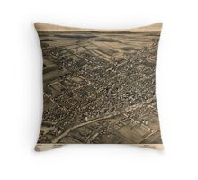 Panoramic Maps View of Albion NY 1880 Throw Pillow