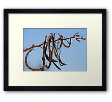 Nature's signature... Framed Print