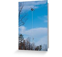 Tree Trimming Helicopter  Greeting Card