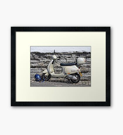 Vespa Scooter - Signs Of The Past Framed Print