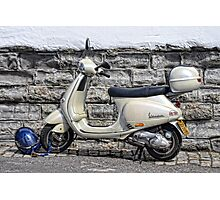 Vespa Scooter - Signs Of The Past Photographic Print
