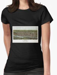 Panoramic Maps Birds eye view of Manayunk Wissahickon 1907 T-Shirt
