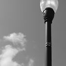 Old Street Lamp with Clouds by marybedy