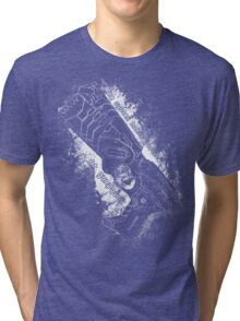 The system holds justice at gunpoint Tri-blend T-Shirt