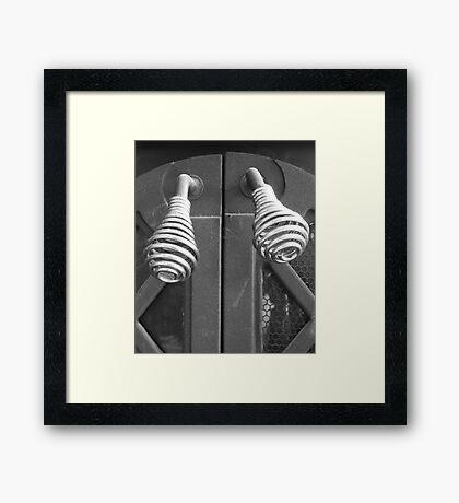 Hearth Handles Framed Print