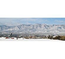 Snow Covered Hills Photographic Print