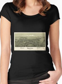 Panoramic Maps Gallitzin Cambria County Pennsylvania 1901 Women's Fitted Scoop T-Shirt