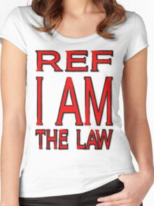 Ref - I AM - in slightly distressed text Women's Fitted Scoop T-Shirt