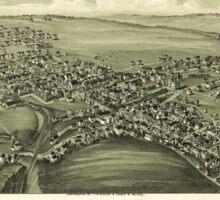 Panoramic Maps Gallitzin Cambria County Pennsylvania 1901 Sticker