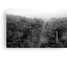 Japan Waterfall Landscape 01 - BW Canvas Print