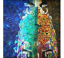 Gustav Klimt Glitch - Hope II Photographic Print