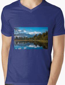 Lake Matheson, New Zealand Mens V-Neck T-Shirt