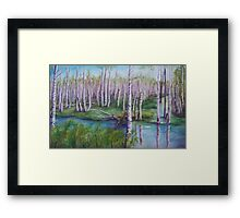 Crossing the Swamp WC151101-12 Framed Print
