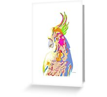 7 DAYS OF SUMMER- COCKATOO ART IN BLUE AND PEACH Greeting Card