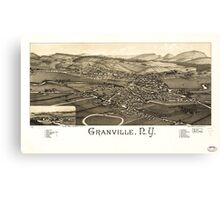 Panoramic Maps Granville NY Canvas Print