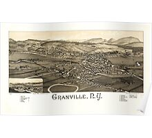 Panoramic Maps Granville NY Poster