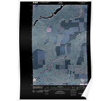 USGS Topo Map Washington State WA Coffeepot Lake 20110401 TM Inverted Poster