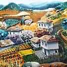 Village in mountains by kseniako