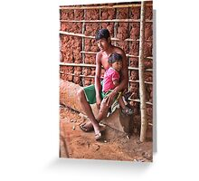 Apinajé indians - Father and son Greeting Card