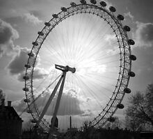 London Eye Black and White by James Taylor
