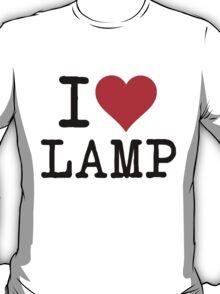 I Love Lamp(Black text) T-Shirt