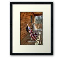 Patriotic Rockers Framed Print