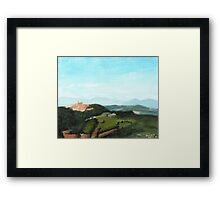View of Todi from Montecastello Framed Print