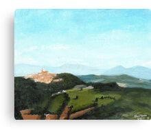 View of Todi from Montecastello Canvas Print