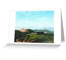 View of Todi from Montecastello Greeting Card