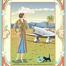 Art Nouveau Jean Batten 1930's Aviator by contourcreative