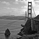 Golden Gate Bridge - BW by JThill